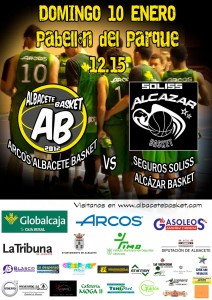 Cartel Albacete Basket vs Alcázar Basket