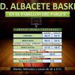 Abonos Albacete Basket segunda vuelta