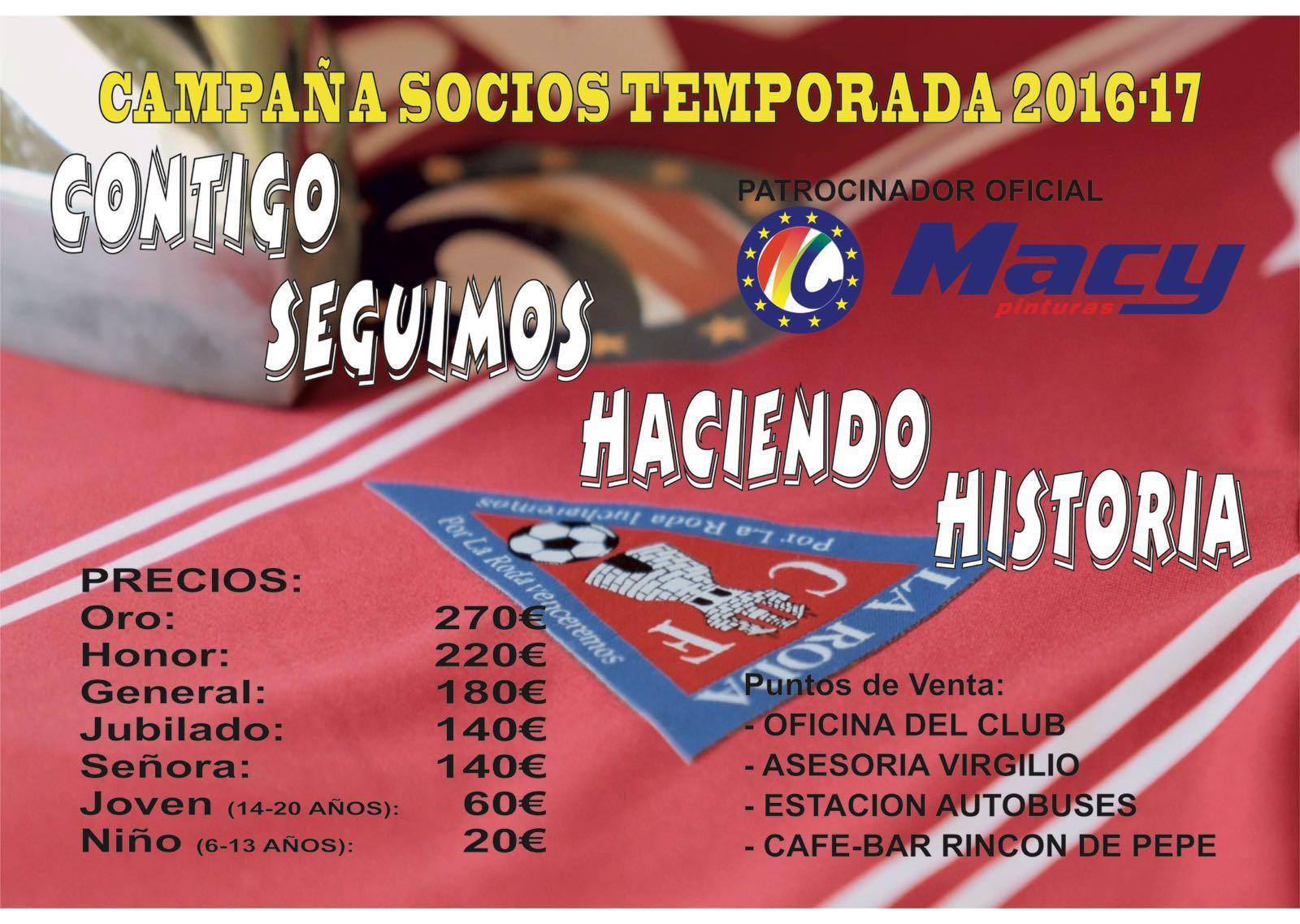 Abonos La Roda CF 2016-2017