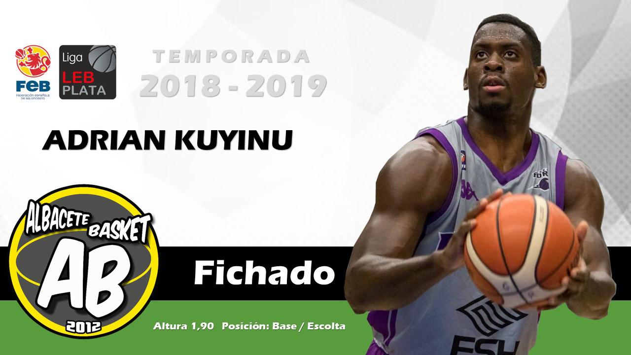 Adrián Kuyinu, jugador del Albacete Basket