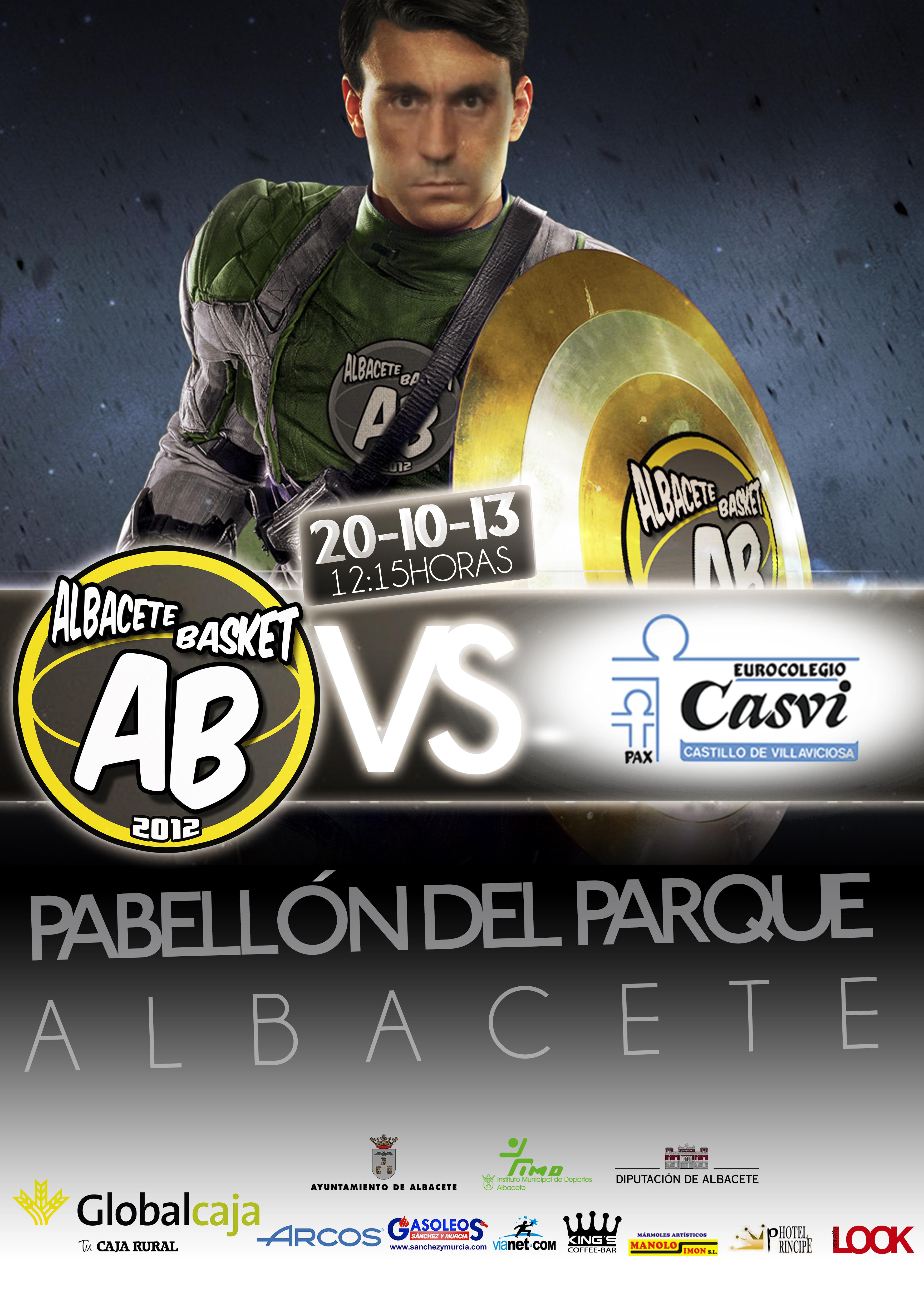 Cartel del Albacete Basket - Eurocolegio Casvi
