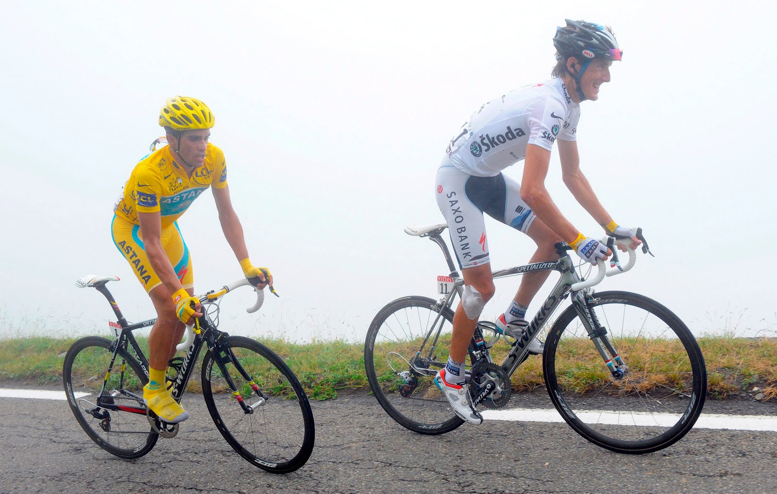 Alberto Contador y Andy Schleck
