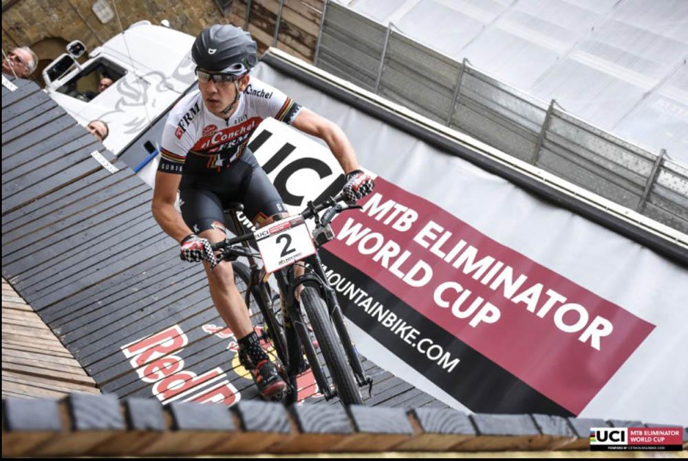 Alberto Mingorance en la primera carrera del MTB Eliminator World Cup