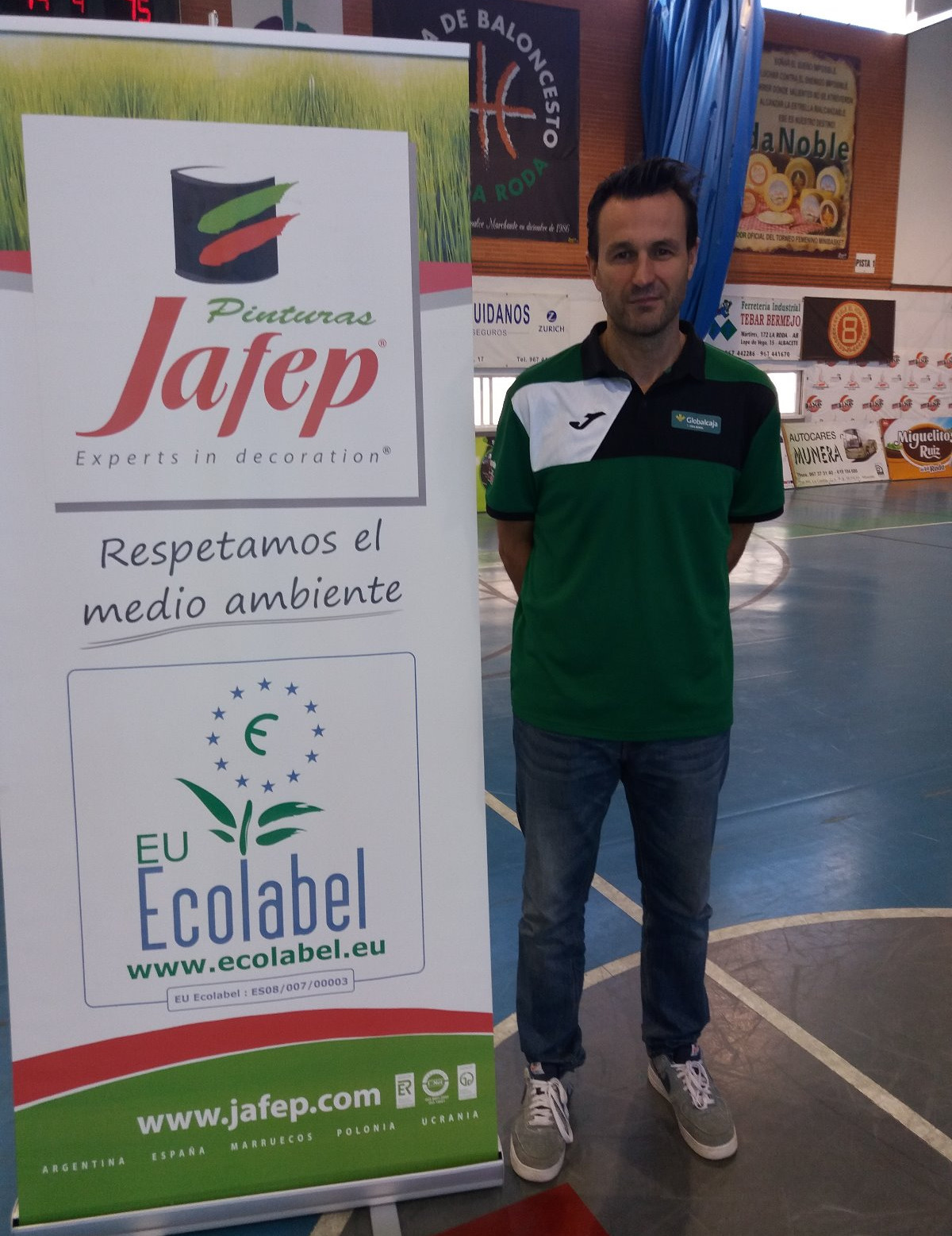 Alejandro González, entrenador del Fundación Globalcaja La Roda