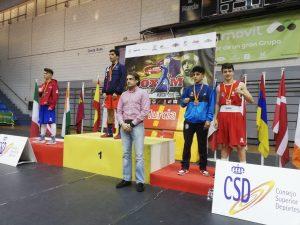 Álex Muñoz en el podium de Boxam