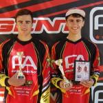 Alex y Javi García en el podio de Mataró