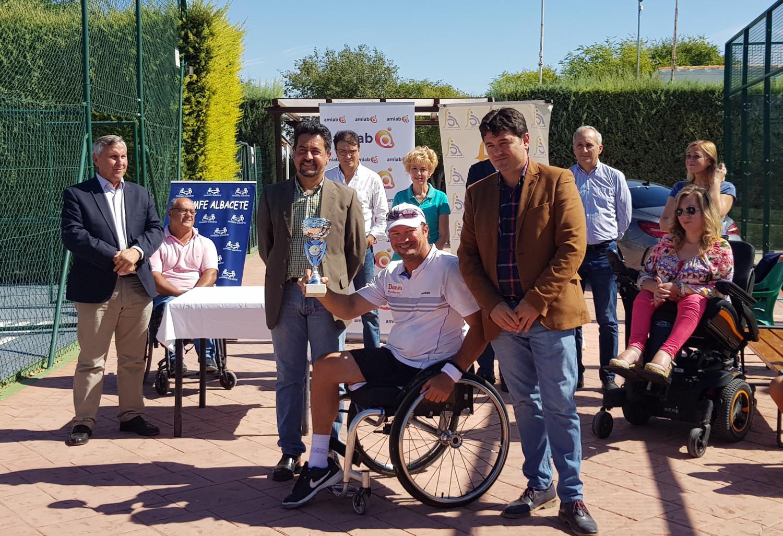 Arturo Montes en el X Trofeo Ciudad de Albacete de Tenis en Silla de Ruedas