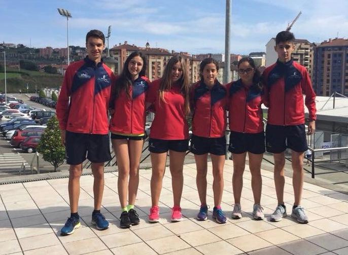 Atletas del Club Atletismo Albacete sub 16
