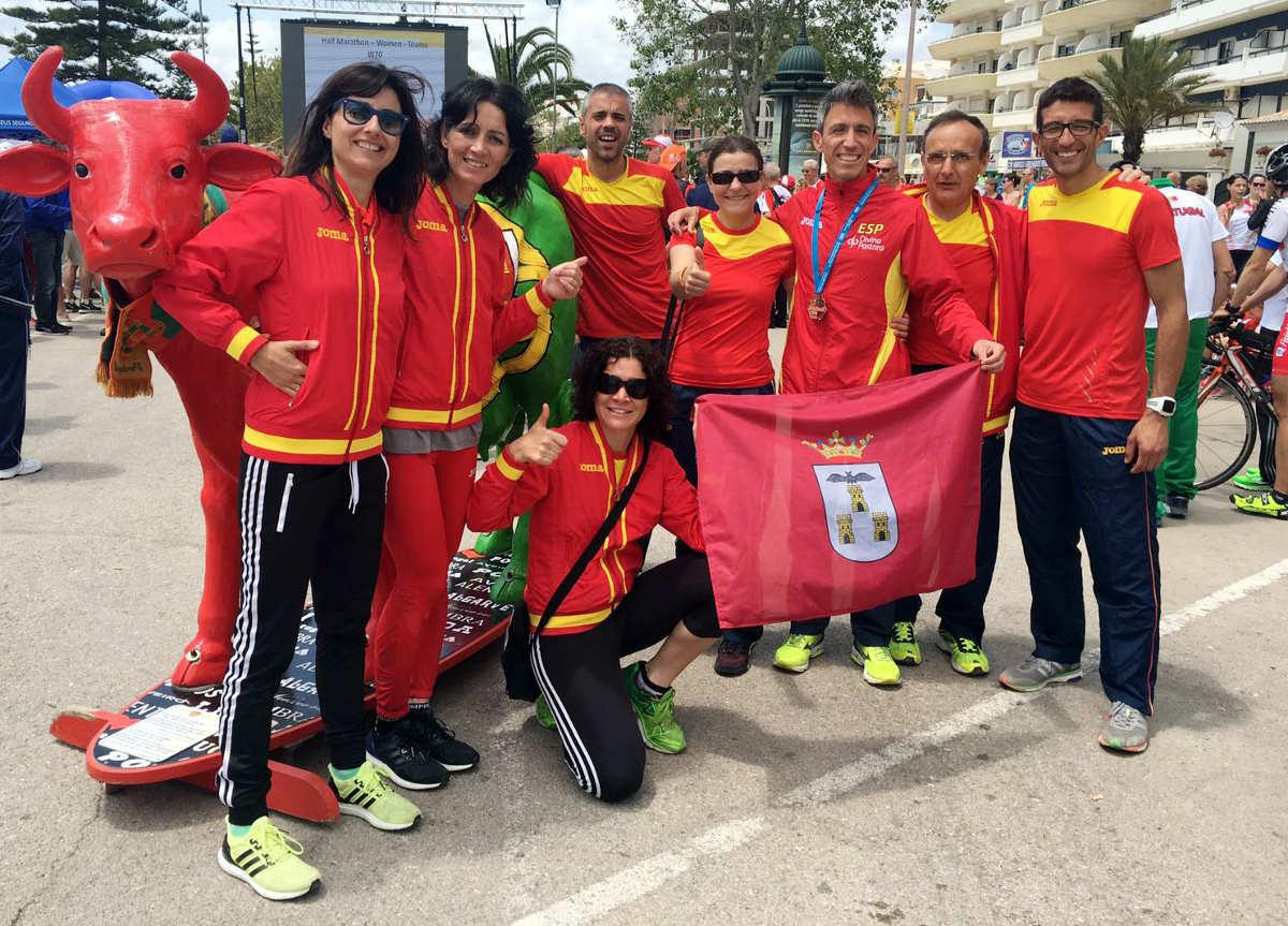 Atletas albaceteños en el Campeonato de Europa de Veteranos