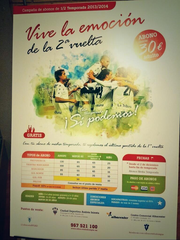 Cartel de la campaña de abonos (Foto: @JavilotasZombie)