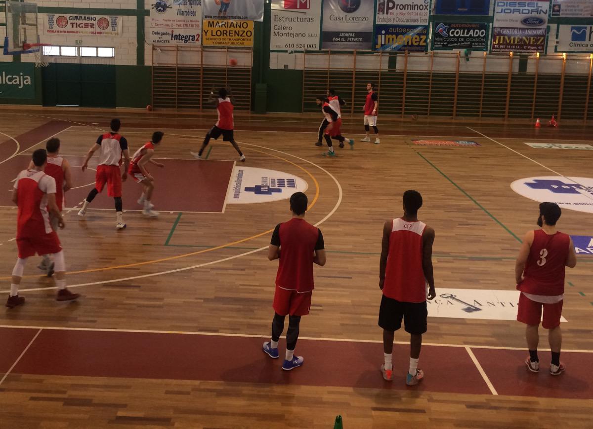 CB Villarrobledo durante un entrenamiento