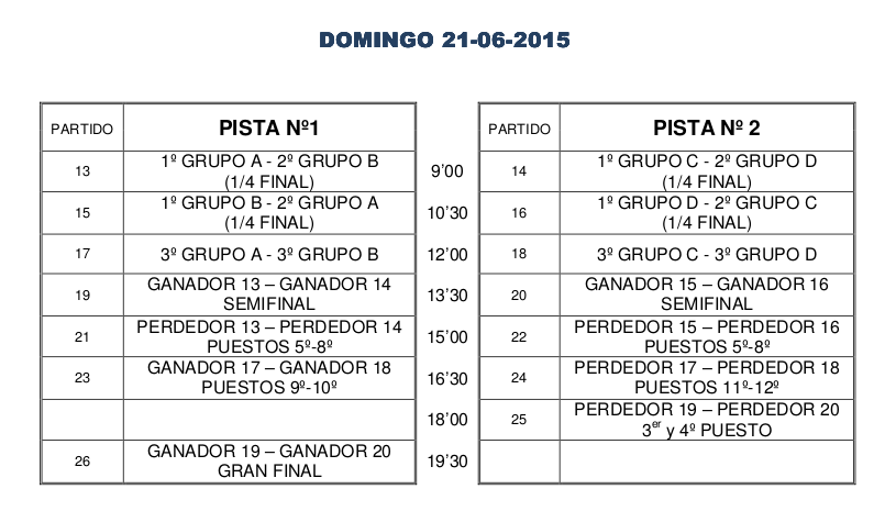 Calendario Domingo