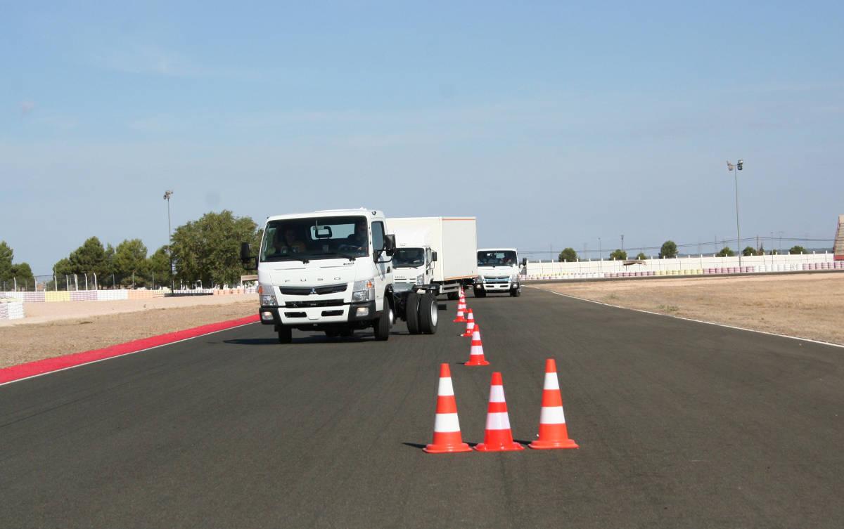 Camiones Fuso en el Circuito de Albacete