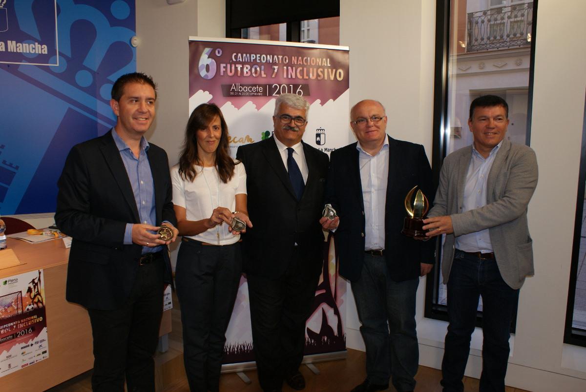Presentación del 6º Campeonato Nacional de Fútbol Inclusivo que organiza la Federación de Deportes para Personas con Discapacidad Intelectual de Castilla-La Mancha (FECAM)