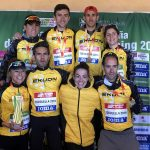 Campeones masculinos y femeninos del Ekuon El Conchel Sport Team