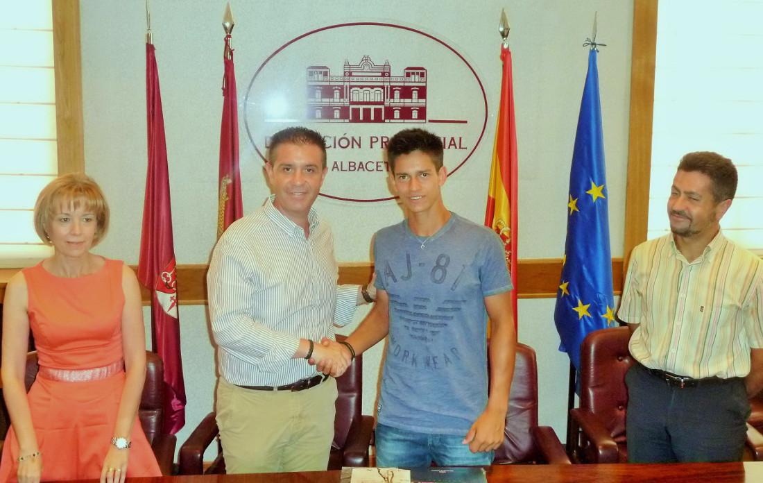 Carlos Sánchez Jover recibido en la Diputación de Albacete