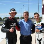 Carmelo Morales, Constantino Esparcia y Davide Pizzoli