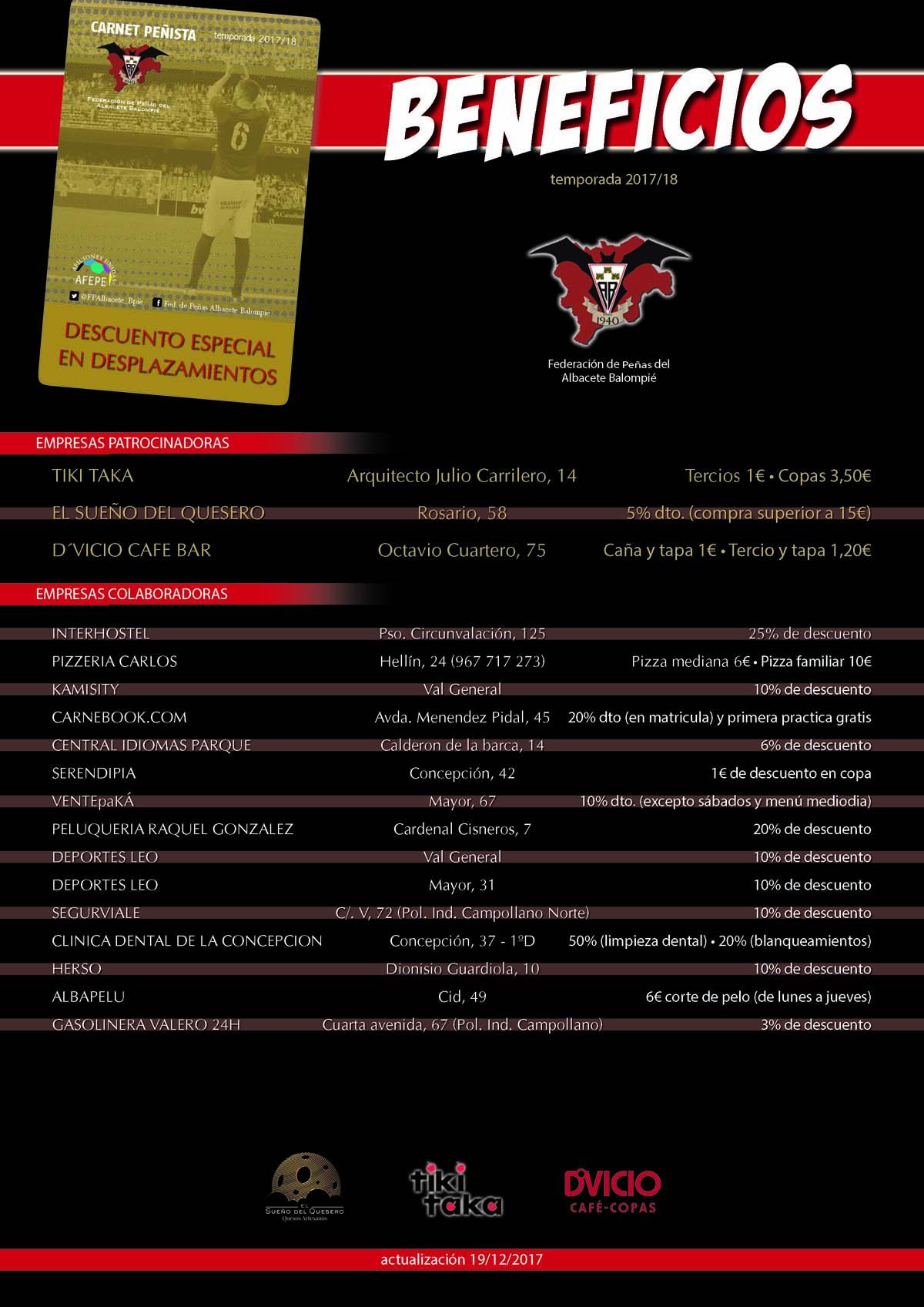 Carnet de la Federación de Peñas del Albacete Balompié