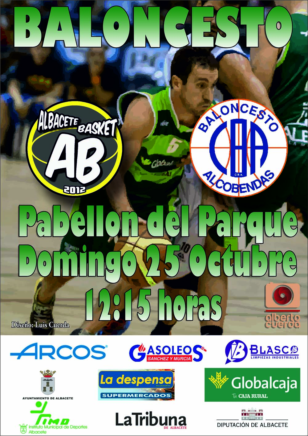 Cartel Albacete Basket - Alcobendas