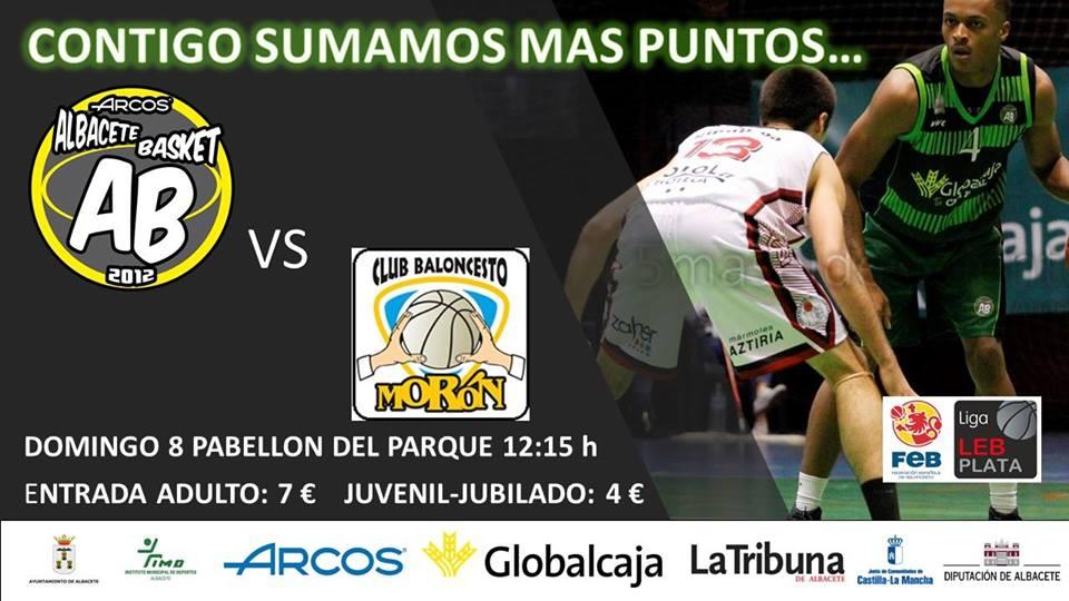 Cartel Albacete Basket - Aceitunas Fragata CB Morón
