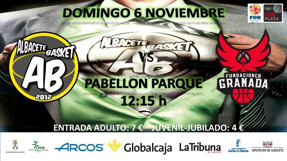 Cartel Albacete Basket - Covirán Granada