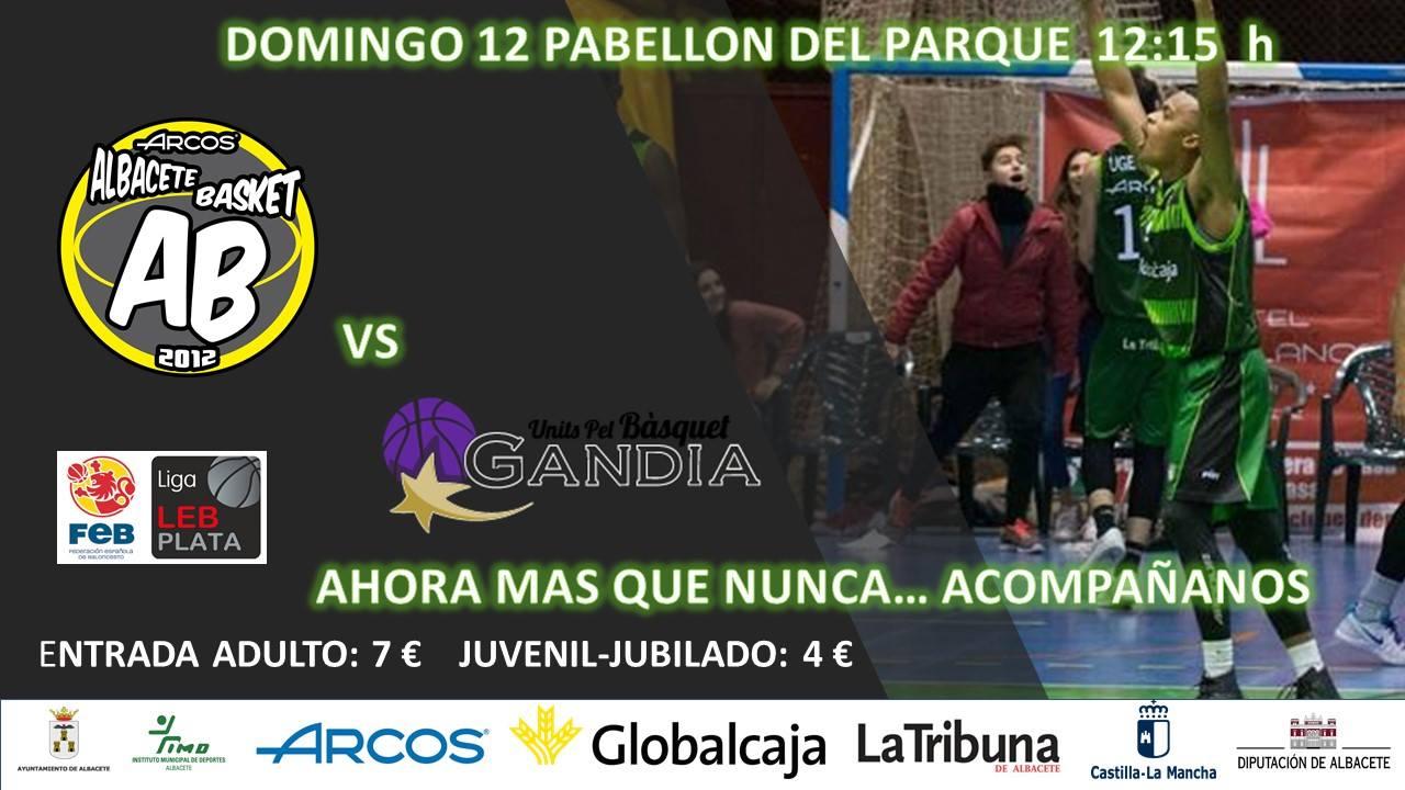 Cartel Albacete Basket - Hispagan UPB Gandía