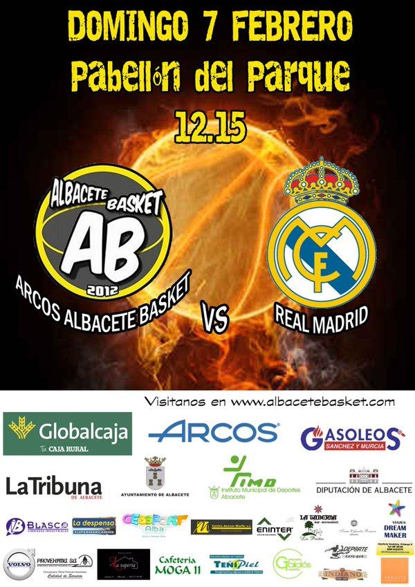 Cartel Albacete Basket - Real Madrid