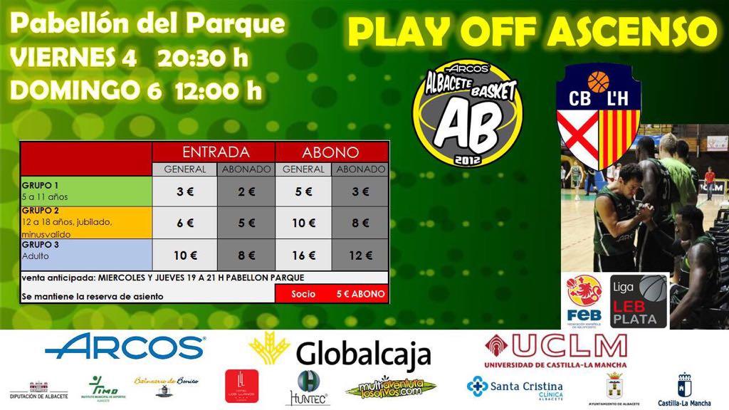 Cartel Albacete Basket vs CB Hospitalet