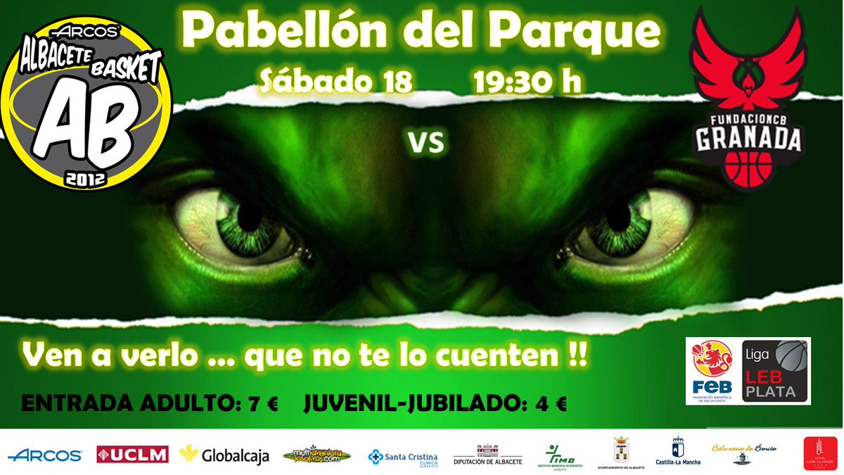 Cartel Albacete Basket vs Covirán Granada