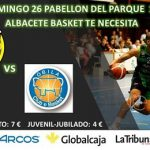 Cartel Albacete Basket vs Óbila Club