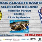 Cartel Arcos Albacete Basket - Selección de Islandia