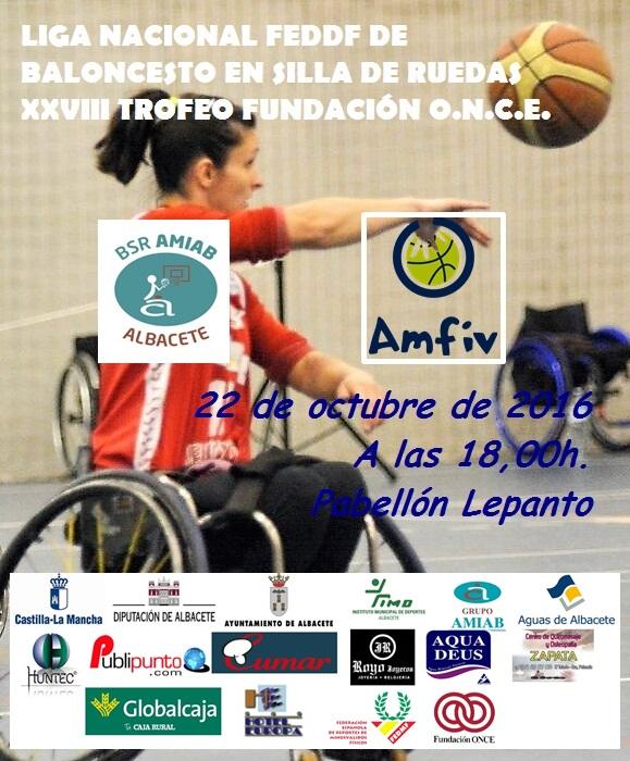 Cartel BSR Amiab Albacete - CD Amfiv de Vigo
