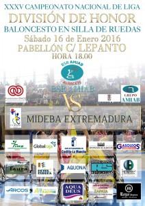 Cartel BSR Amiab Albacete - Mideba Extremadura