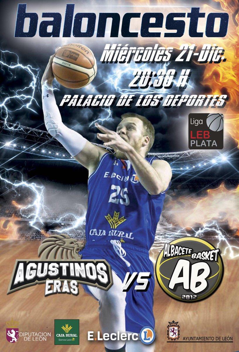 Cartel CB Agustinos Leclerc - Albacete Basket