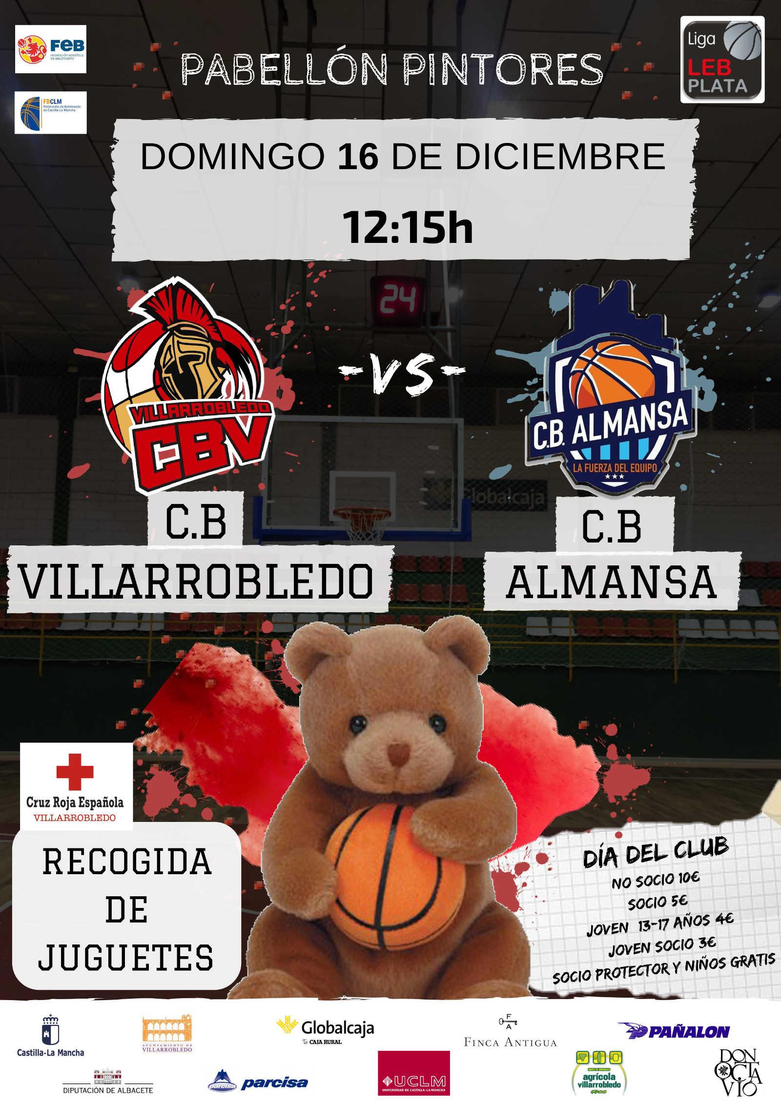 Cartel CB Villarrobledo - Afanion CB Almansa