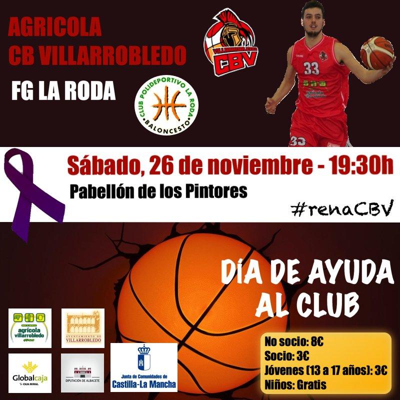 Cartel CB Villarrobledo - Fundación Globalcaja La Roda