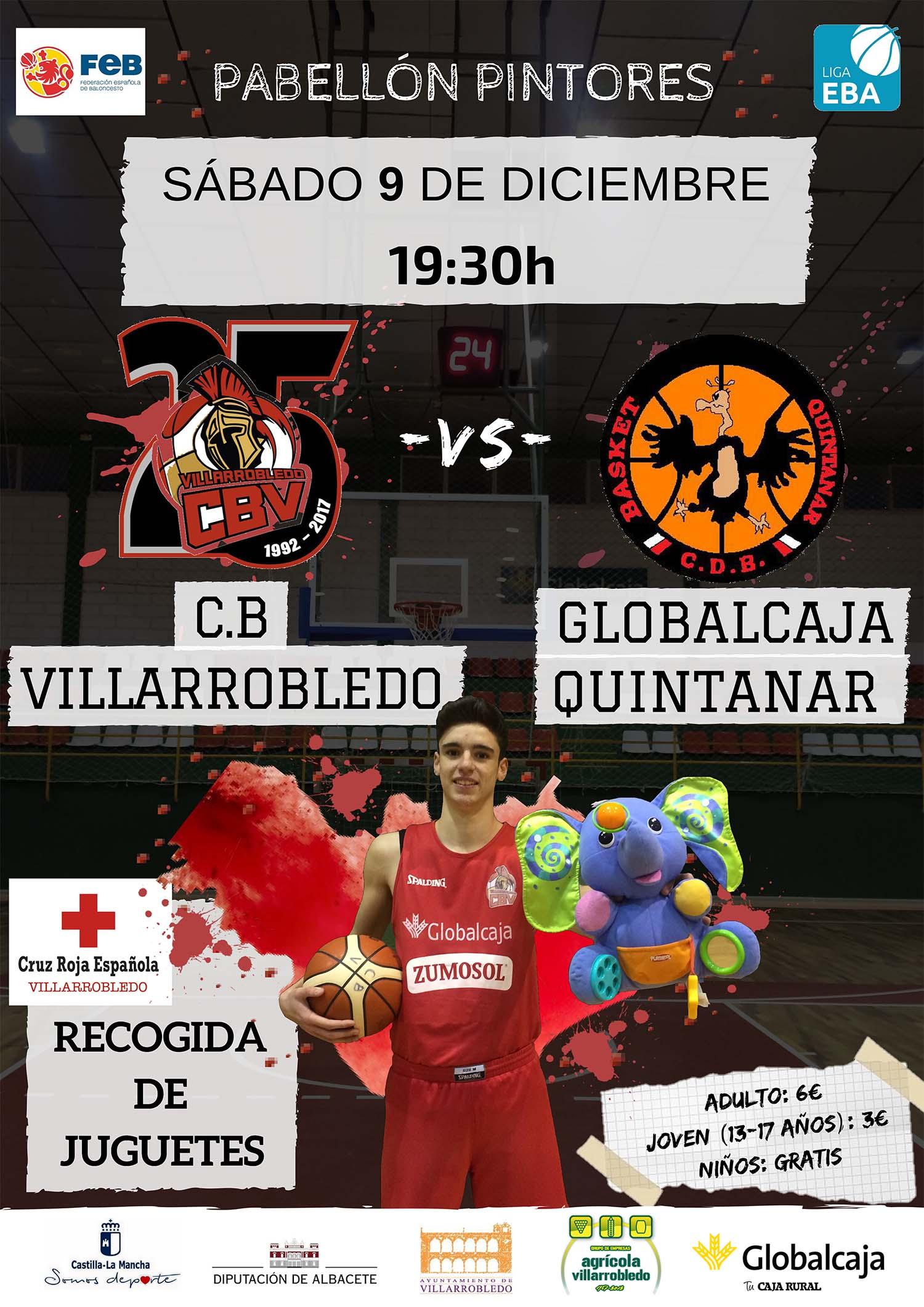 Cartel CB Villarrobledo - Globalcaja Quintanar