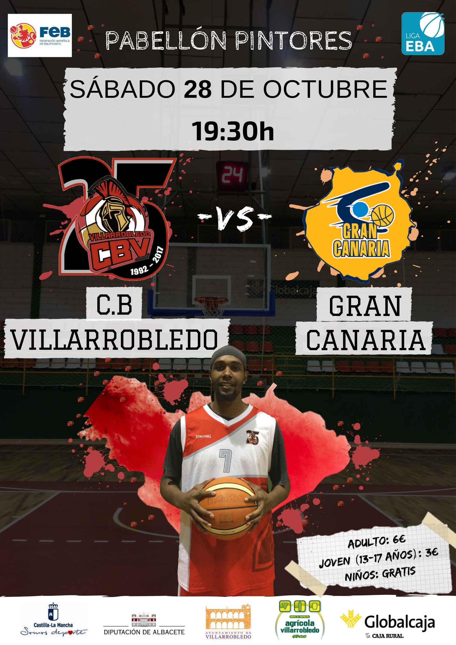 Cartel CB Villarrobledo - Gran Canaria