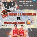 Cartel CB Villarrobledo - Lujisa Guadalajara Basket