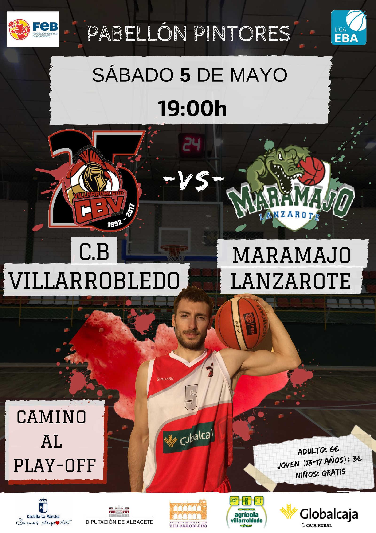 Cartel CB Villarrobledo - Maramajo Teguise Lanzarote