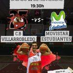 Cartel CB Villarrobledo - Movistar Estudiantes