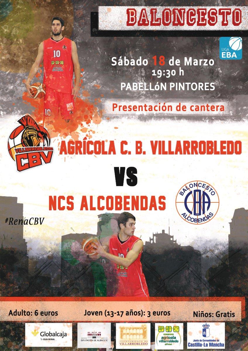 Cartel CB Villarrobledo - NCS Alcobendas