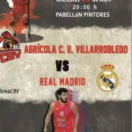 Cartel CB Villarrobledo - Real Madrid