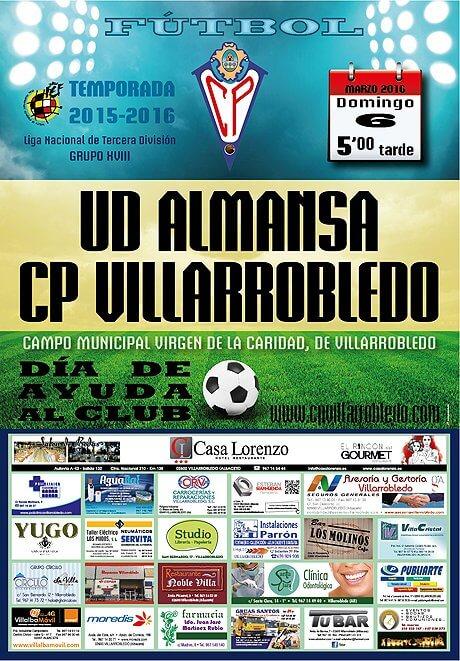 Cartel CP Villarrobledo - UD Almansa
