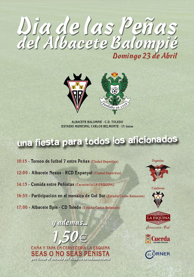 Cartel Día de las Peñas del Albacete Balompié