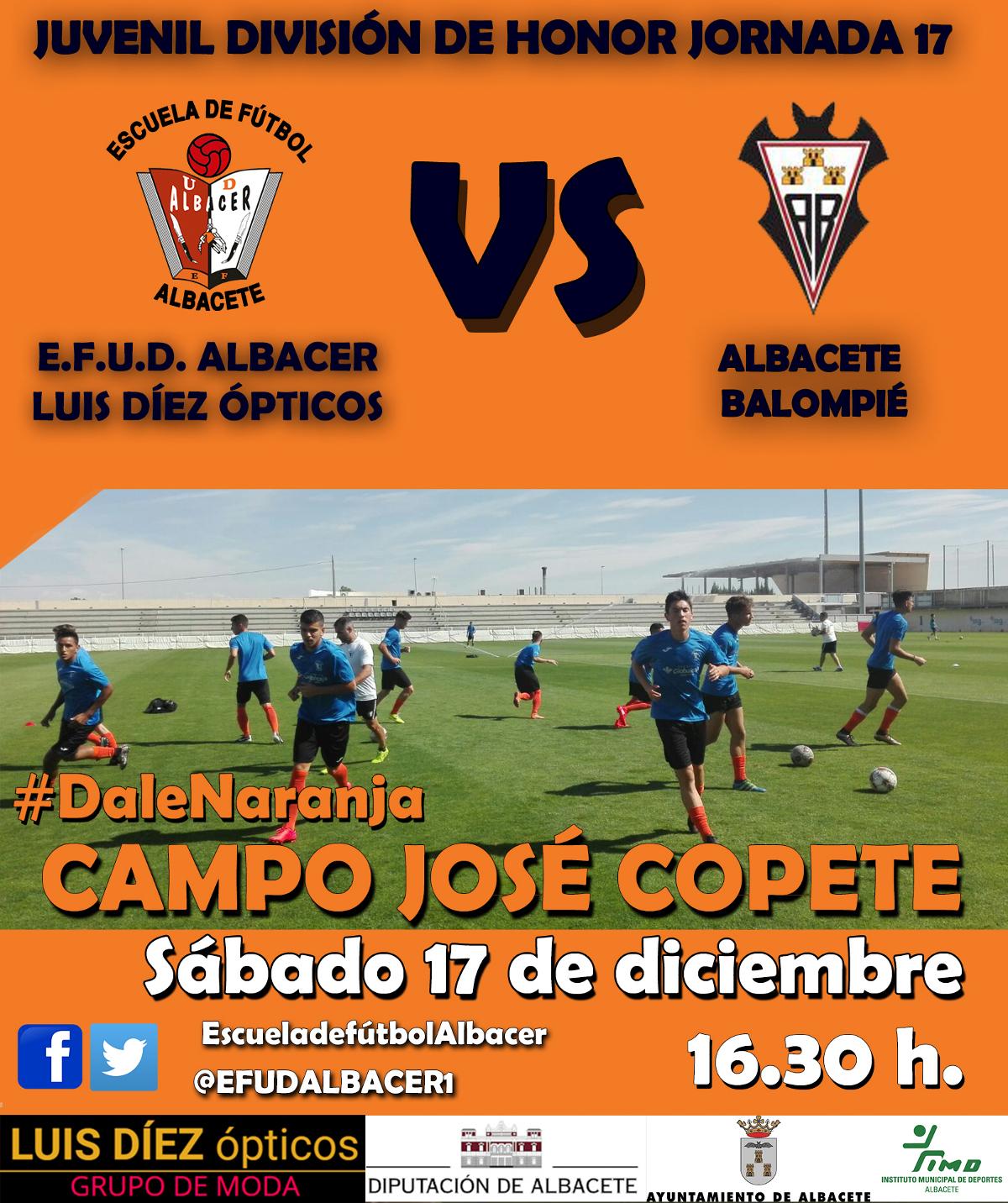 Cartel EFUD Albacer - Albacete Balompié Juvenil