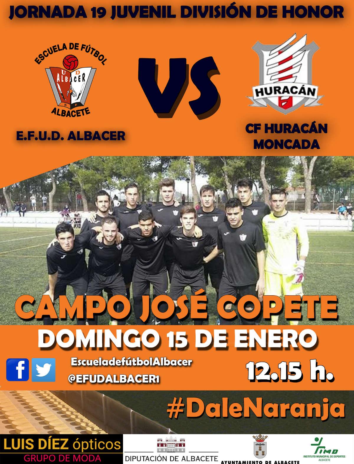 Cartel EFUD Albacer - CF Huracán Moncada