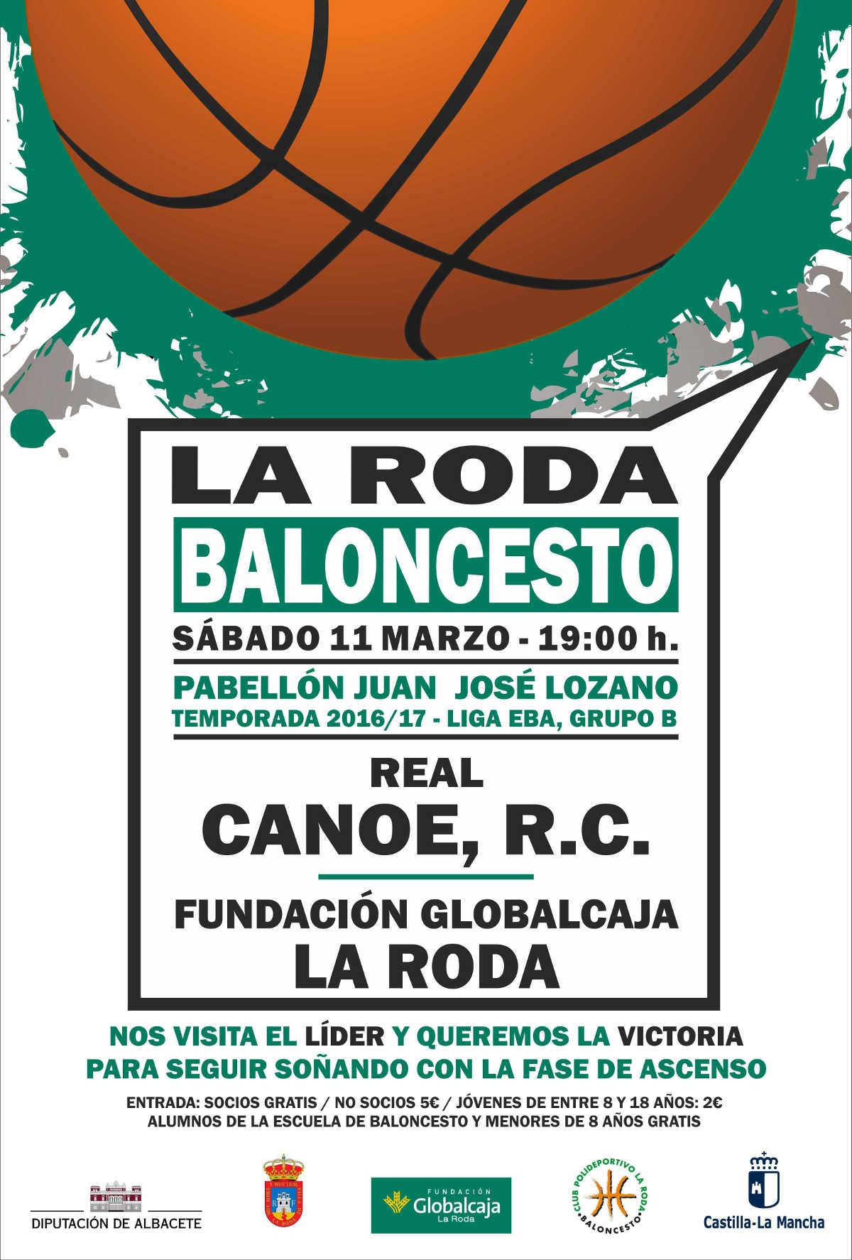 Cartel Fundación Globalcaja La Roda - Real Canoe