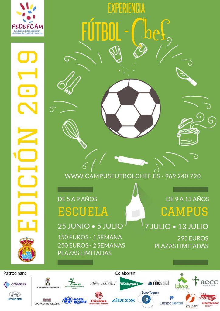 Cartel Fútbol Chef 2019