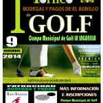Cartel I Torneo de Golf Bodegas y Pagos de El Bonillo